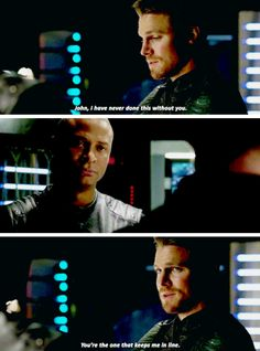 "#Arrow - Oliver & Diggle #Season4Finale #4x23 - ""What are you gonna do? Take some time away from this team, away from the city. Figure out where I went off track and how to get back on."""