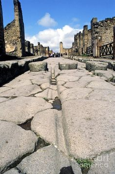 Century Photograph - Pompeii Street by Pasquale Sorrentino Pompeii Ruins, Pompeii And Herculaneum, Naples, Roman Roads, Empire Romain, Classical Antiquity, Ancient Rome, Ancient History, Luxor Egypt