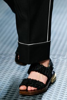 killer black Gucci flats with gold hardware- Fall 2015