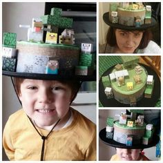 Minecraft easter bonnet....a homage to Ester!