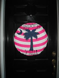 Palmetto, South Carolina, Welcome Door Hanger. $40.00, via Etsy.