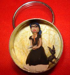 Frida Kahlo Miniature polymer clay figure by Susan Romero 2008