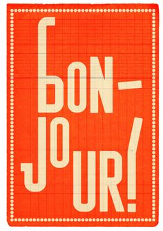 france, french, paris, print, bonjour, bon-jour, orange, travel, hello, jaunt