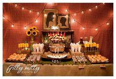 bbq buffet table
