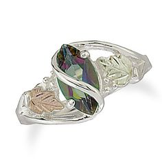 Black Hills Gold Marquise Gemstone Ring in Sterling Silver (1 Stone) - Zales