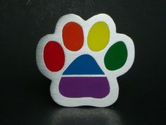 Rainbow Dog Paw Prin