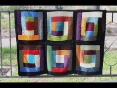 Log Cabin Scrap Blanket - v e r y p i n k . c o m - knitting patterns and video tutorials