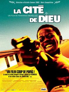 """City of God (Portuguese: Cidade de Deus) is a 2002 Brazilian crime drama film directed by Fernando Meirelles.  It depicts the growth of organized crime in the Cidade de Deus suburb of Rio de Janeiro, between the end of the '60s and the beginning of the '80s, with the closure of the film depicting the war between the drug dealer Li'l Zé and criminal Knockout Ned. The tagline is """"If you run, the beast catches; if you stay, the beast eats""""."""