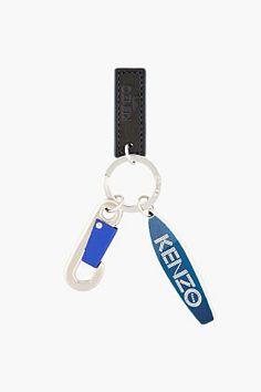 KENZO Blue Surfboard Keychain
