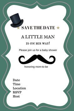 Free Printable Baby Shower Invitation - Ahoy It's a Boy ...