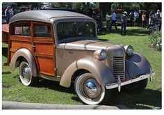 Austin of England inspired 1940 Bantam American-made woody. Old Trucks, Pickup Trucks, Vintage Cars, Antique Cars, Automobile, Woody Wagon, Panel Truck, Small Cars, Station Wagon