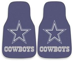 $21.99 - NFL Dallas Cowboys Carpeted Car Mats (Set of 2) - Celebrate your favorite team and protect your vehicle's flooring at the same time with the FANMATS Dallas Cowboys 2-piece printed carpet car mat. Universally fitted, the car mat set is perfect for cars, trucks, SUVs and RVs.