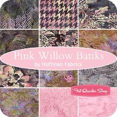 Pink Willow Batiks Fat Quarter Bundle Hoffman Fabrics #FQSgiftguide