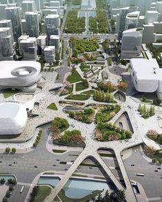 Square design #urban #planing #desing #şehir-planlama #tasarım #kent #korea #kore #plan #planlama #sehir #şbp #şehirplancısı #şehirplanlama…