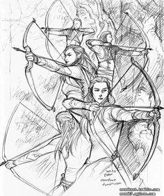 "Archers of Mirkwood by evankart.deviantart.com on @deviantART - From ""The Hobbit"""