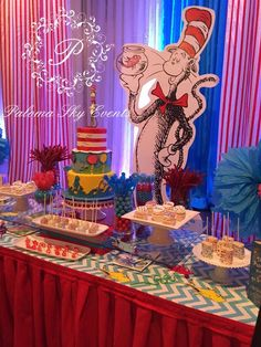 What a great Dr. Seuss birthday party! See more party planning ideas at CatchMyParty.com!