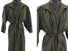 VINTAGE FRENCH WOOL Jacque Gevertz Trench Coat Sz 38