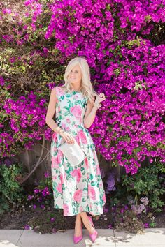 Chicwish Floral Dress c/o loving this option and this option! Mckenna Bleu, Preppy Style, My Style, Beautiful Summer Dresses, Female Pictures, Floral Fashion, Modest Outfits, Poses, Mother Of The Bride