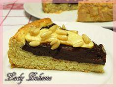Italian Food - Crostata di mele, pinoli e cioccolato fondente