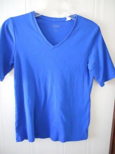Chico's True Color Womens Royal Blue Tee Shirt  Size 1 #Chicos #TeeShirt #Casual