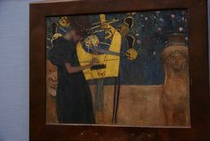 Gustave Klimt's, The Music, for more please visit http://www.painting-in-oil.com/artworks-Klimt-Gustave-page-1-delta-ALL.html