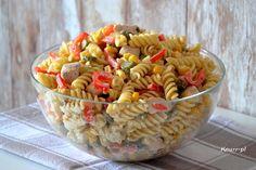 Sycąca sałatka do pracy Pasta Salad, Ethnic Recipes, Food, Meal, Essen, Cold Noodle Salads, Hoods, Noodle Salads, Meals