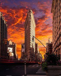 Flatiron Building, New York Life, City Lights, City Life, Empire State Building, New York Skyline, Cruise, Nyc, Architecture