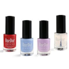 OneDor PeelOff Gel Nail Polish Moisture Air Dry Nail Lacquer Candy Red Light Blue Lanvender Top Coat ** You can find more details by visiting the image link.Note:It is affiliate link to Amazon. #tagblender