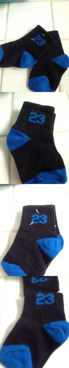 Michael Jordan Baby Clothing: New Infant Michael Jordan #23 Black/Blue Socks 0-6 Months BUY IT NOW ONLY: $5.0