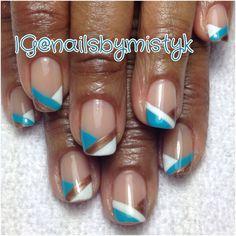 Shellac nail art, spring nail art.