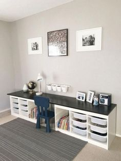 Amazing IKEA Hacks For Home Decoration Ideas – Page 36 of 37 – fire.krediler… Amazing IKEA Hacks For Home Decoration Ideas – Page 36 of 37 – fire. Ikea Bookcase, Ikea Desk, Bookcases, Ikea Childrens Desk, Ikea Hacks, Hacks Diy, Ikea Pinterest, Trofast Ikea, Kallax