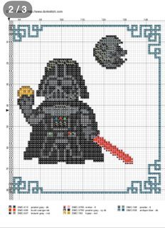 Dart Vader Free Cross Stitch Pattern, possibly use for graphghan