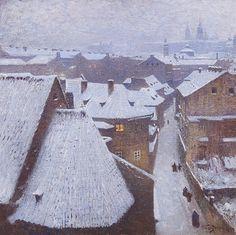 Malostranské střechy von Václav JansaVáclav Jansa (tschechisch, 1859 - 1913) Titel: Malostranské střechy , 1910 Medium: oil on canvas Größe: 50 x 50 cm (19,7 x 19,7 in)