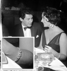 Liz had already amassed quite the collection of rings, so her fourth fiance, Eddie Fisher, presented her with an engagement bracelet, which featured 50 diamonds.