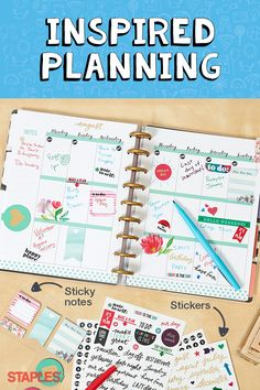 Make perfect plans. Your best days are ahead of you. With the new Happy Planner box kit, they're even brighter. Choose from tons of covers and stickers that show off your personality. And make the most of the last days of summer, while planning for another successful new school year.