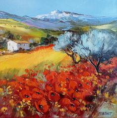 Haute Provence en fleurs - 30 x 30 - 30cm x 30cm