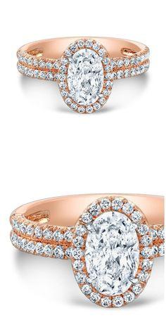 Forevermark by Rahaminov oval diamond ring in rose gold.