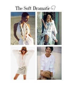 The Soft Dramatic is the most simple of all the archetypes, yet they posess an unparalleled power and elegance.