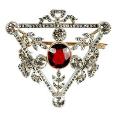 Jewelry Diamond : FABERGE Triangular Brooch #DiamondBrooches