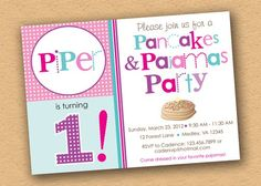 Inkberry Cards & Design Blog - Designer Invitations, Photo Cards, Stationery and More!: A Pancake Party Invitation in Every Color + Another Breakfast Theme Must-See Party
