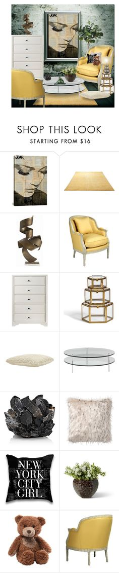 """""""Untitled #3703"""" by lindsayd78 ❤ liked on Polyvore featuring interior, interiors, interior design, home, home decor, interior decorating, WALL, iCanvas, ESPRIT and Jayson Home"""