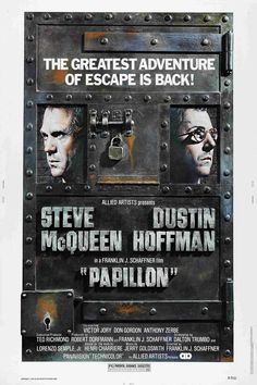 """The film stars Steve McQueen as Henri Charrière (""""Papillon""""), and Dustin Hoffman as Louis Dega. Due to being filmed at remote locations, the film was quite expensive for the time ($12 million), but it readily earned more than twice that in the first year of public distribution. The film's title is French for """"Butterfly,"""" referring to Charrière's tattoo and nickname."""
