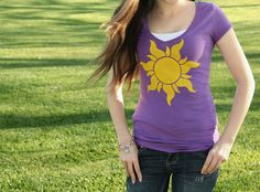 The Lost Princess Shirt. Easy, fun DIY with airbrush fabric paint!
