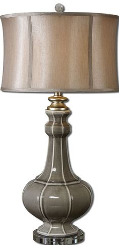 Gray Table Lamps Classy Uttermost 265411 Stabina Metal Table Lamp  Metal Table Lamps And Design Ideas