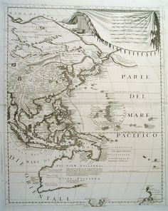 1691 map by Coronelli - Australia was yet to be accurately mapped.