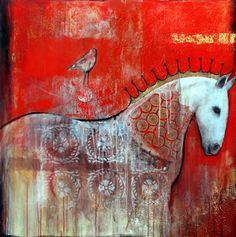 "AMAZING!!! art by Joan Dumouchel (Montreal, Canada 1953) "" Bird Horse """