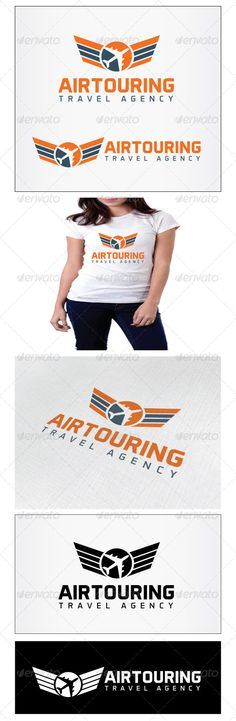 Airtouring Travel Agency Logo — Photoshop PSD #trip #passenger • Available here → https://graphicriver.net/item/airtouring-travel-agency-logo/4780611?ref=pxcr