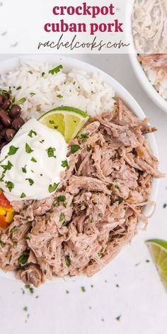A citrus based marinade adds flavor and tenderness to crockpot Cuban pork. Change up your normal routine of pulled pork with this unique flavor combination. Marinated Pork, Grilled Pork, Mojo Pork, Cuban Pork, Cuban Dishes, Boneless Pork Shoulder, Pulled Pork Recipes, Baked Pork, Fast Easy Meals