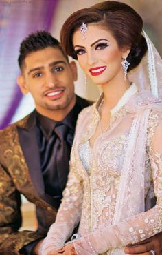 Amir Khan Faryal Makhdoom Wedding Indian Bridal Stani Makeup Hijab