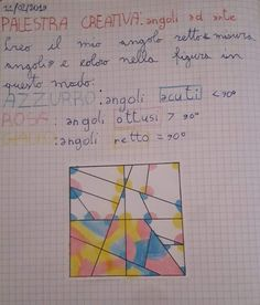 Geometria in classe terza. (3) Introduzione al concetto di angolo e all'utilizzo del goniometro | La Finestra Sull'Albero Primary School, Elementary Schools, Music Chords, Math For Kids, Busy Book, Home Schooling, Teaching Math, Problem Solving, Pixel Art